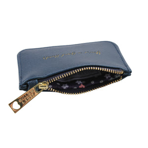 Willow & Rose 'You're In Good Hands' Navy Coin Purse