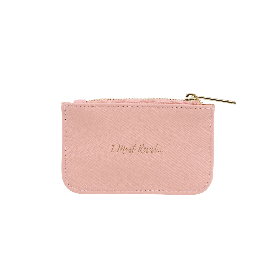 Willow & Rose 'I Must Resist...' Coral Coin Purse