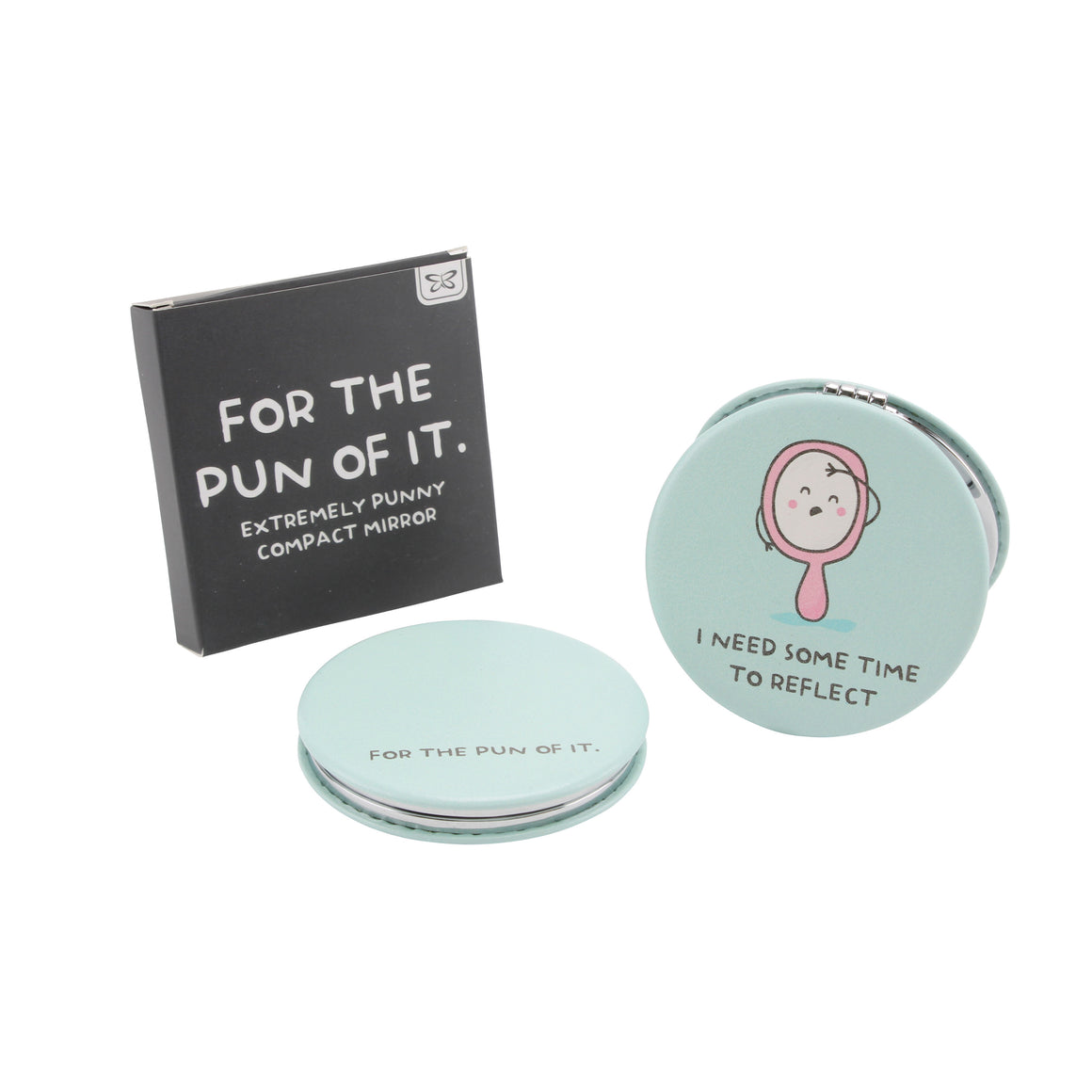 'I Need Some Time To Reflect' Compact Mirror - The Love Trees
