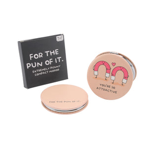'You're So Attractive' Compact Mirror - The Love Trees