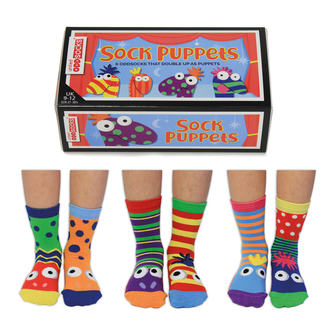United Odd Socks Sock Puppets Boys Gift Box