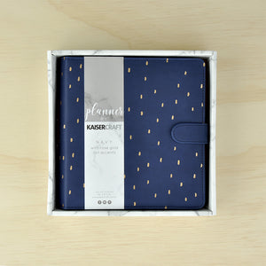 Navy Planner With Rose Gold Foil Accents