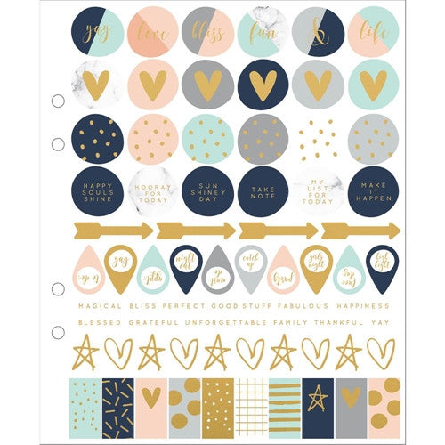 KaiserCraft Gold Foil Stickers - The Love Trees