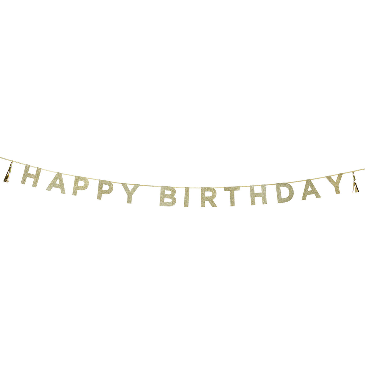 Say It With Glitter ' Happy Birthday' Banner