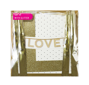 Say It With Glitter 'Love' Banner - The Love Trees