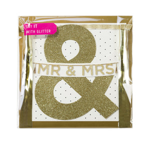 Say It With Glitter 'Mr & Mrs' Banner - The Love Trees