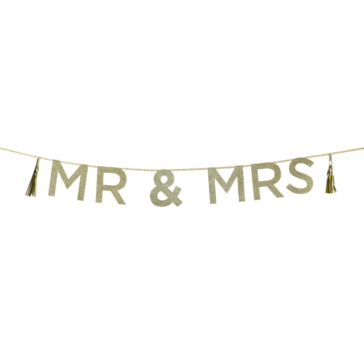 Say It With Glitter 'Mr & Mrs' Banner