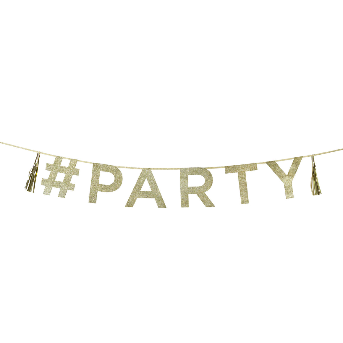 Say It With Glitter '#Party' Banner