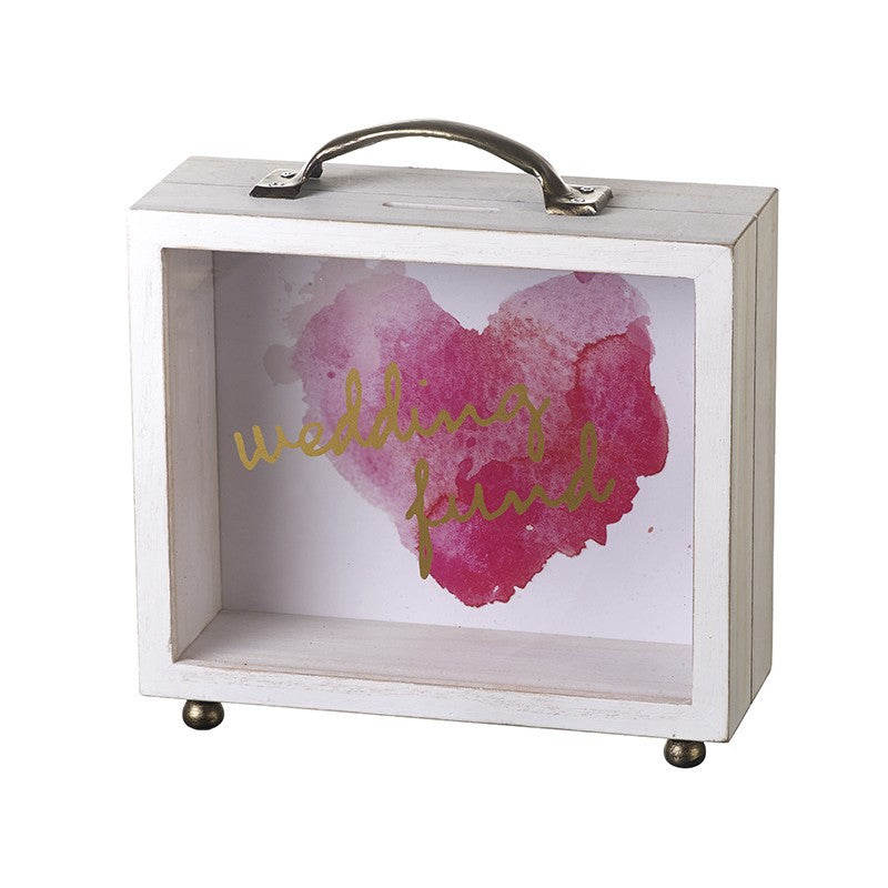 Heart Wedding Fund Money Box Case - The Love Trees