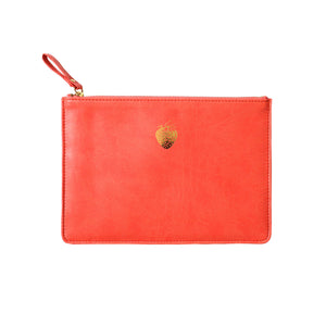 Sky + Miller Strawberry Faux Leather Pouch
