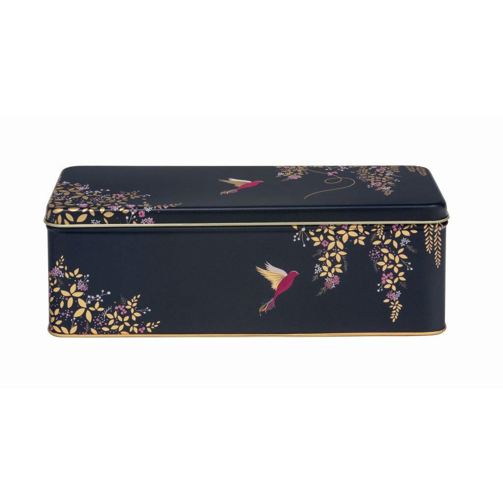 Sara Miller Dark Blue Birds Rectangular Tin - The Love Trees