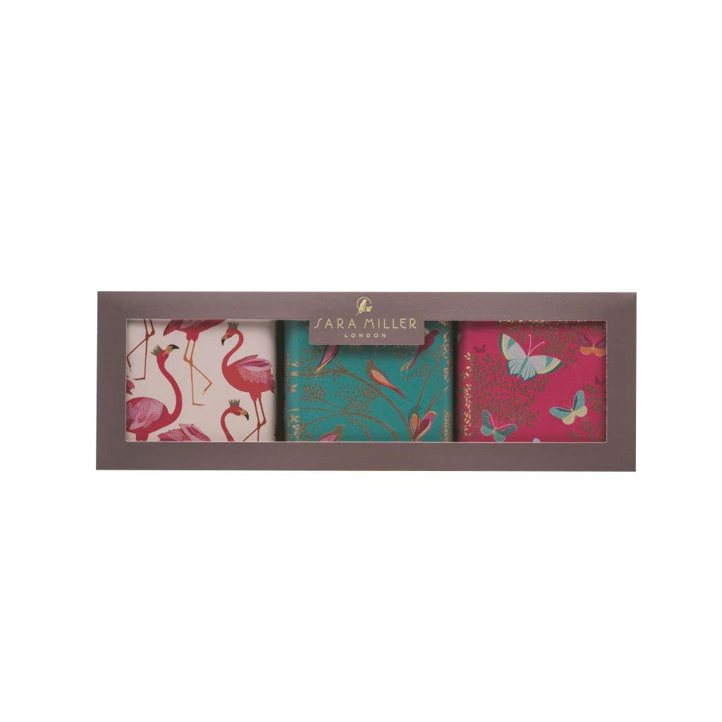 Sara Miller Set Of 3 Square Caddies - The Love Trees