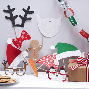Festive Family Christmas Photo Booth Party Props - The Love Trees