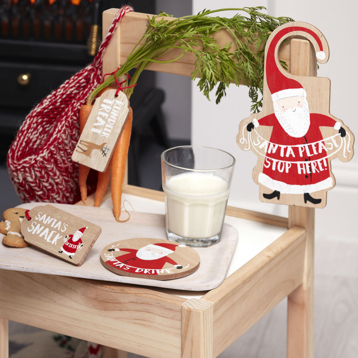 Wooden Santas Coming Christmas Eve Kit - The Love Trees