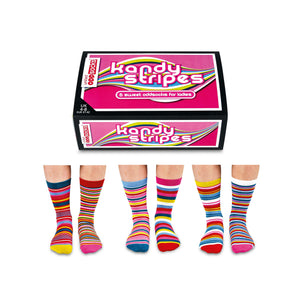 United Odd Socks Kandy Stripes Ladies Gift Box