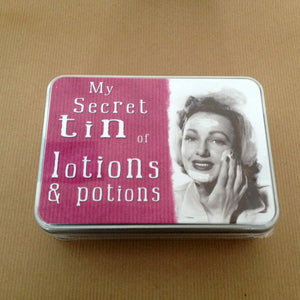 'Lotions And Potions' Small Tin - The Love Trees