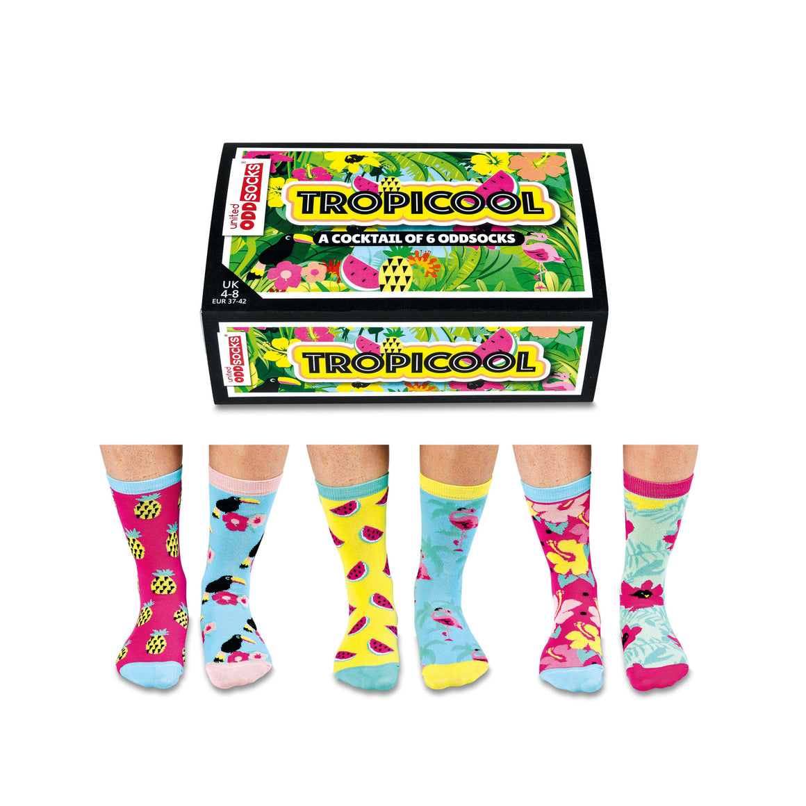 Odd Socks Tropicool Ladies Gift Box - The Love Trees