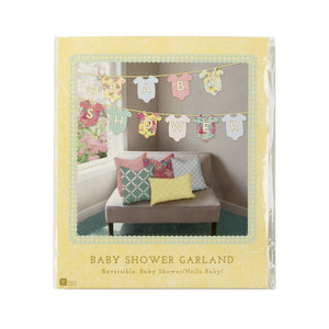 Reversible Truly Baby Garland - 'Hello Baby' / 'Baby Shower' - The Love Trees