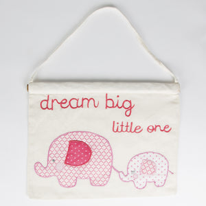 Ella Elephant Banner Pink - The Love Trees