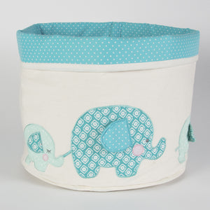 Elliot Elephant Storage Basket Blue - The Love Trees