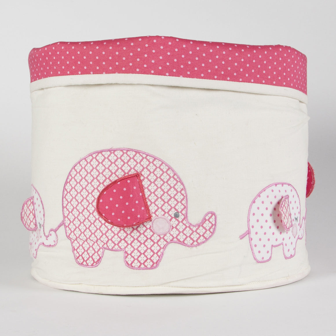 Ella Elephant Storage Basket Pink - The Love Trees