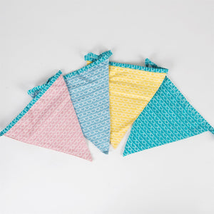 Pastel Scallop Print Fabric Bunting