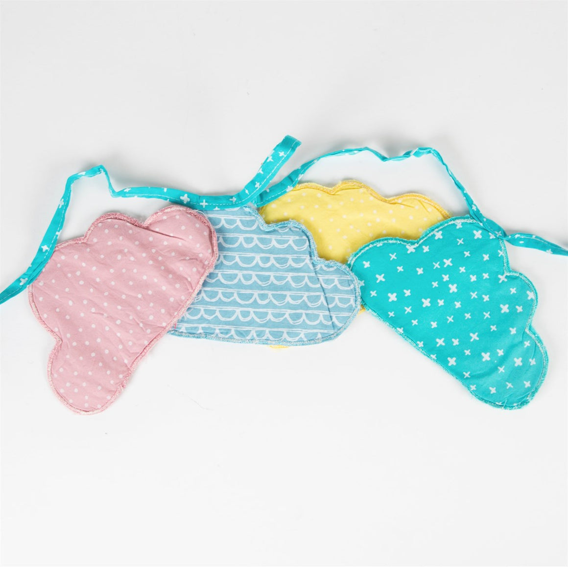 Pastel Cloud Fabric Bunting - The Love Trees
