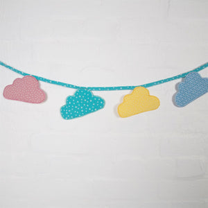 Pastel Cloud Fabric Bunting