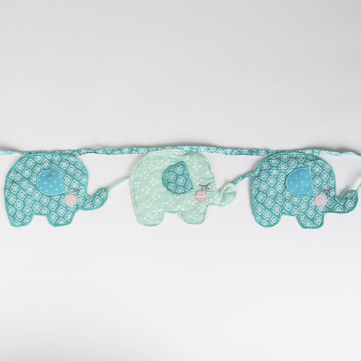 Elliot Elephant Blue Fabric Bunting - The Love Trees