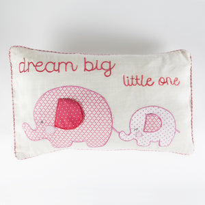 Ella Elephant Cushion Pink - The Love Trees