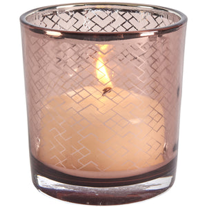 Upsala Copper Lattice Votive Holder
