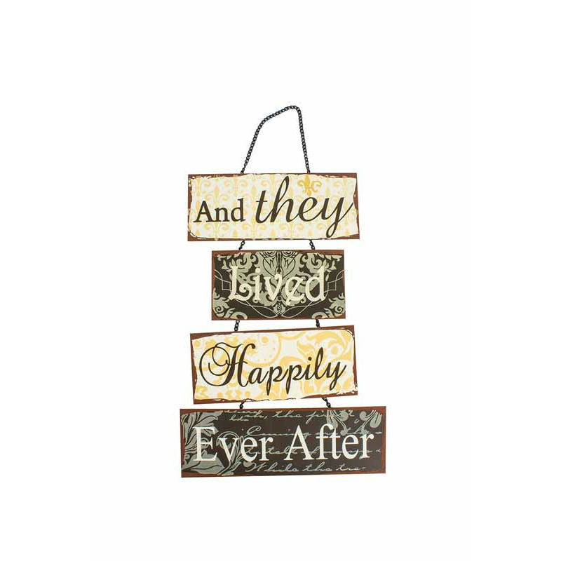 And They Lived Happily Ever After Metal Sign - The Love Trees