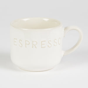 Simple Ceramic Small White Mug Espresso - The Love Trees