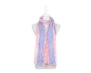 Zigzag 17 Women's Scarf - Pink - The Love Trees