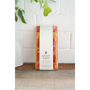 Apiary Made Colourful Kitchen Sustainable Beeswax Food Wraps 3 Pack - The Love Trees