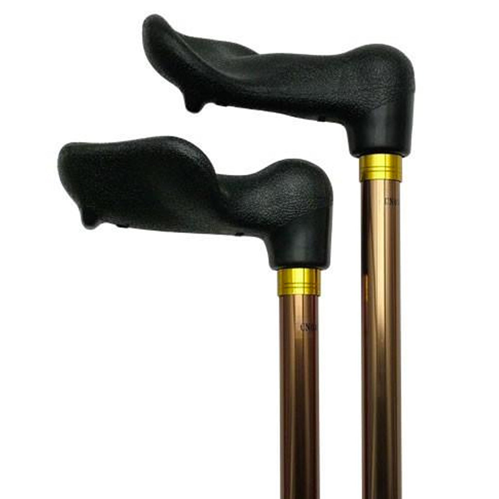 Adjustable Length Cane - Palm Grip Handle