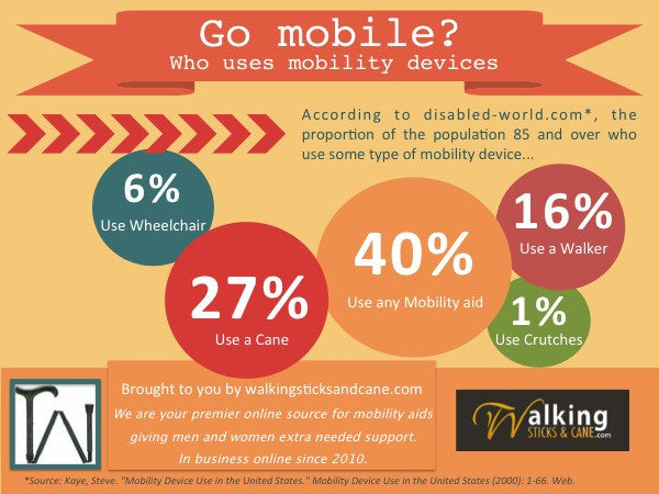 Senior citizens mobility usage infographic