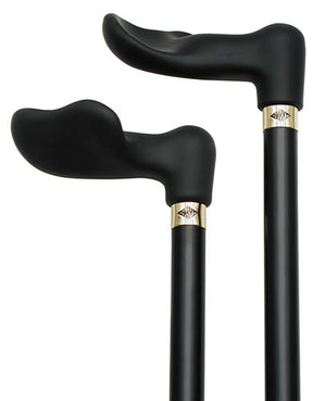Soft Touch Palm Grip Black Cane