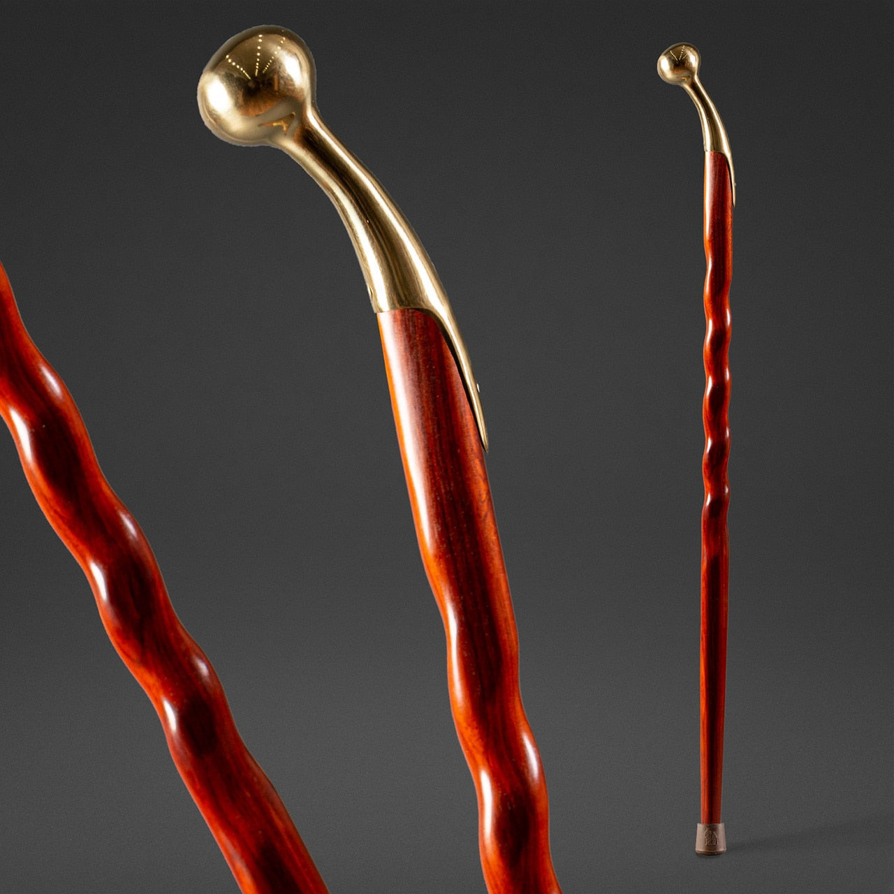 Twisted Cocobolo Hame Top Walking Cane