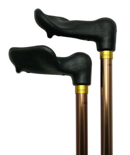 Left Hand Palm Grip 3/4 inch Shaft Cane Bronze