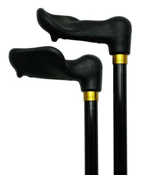 Left Hand Palm Grip 3/4 inch Shaft Cane Black