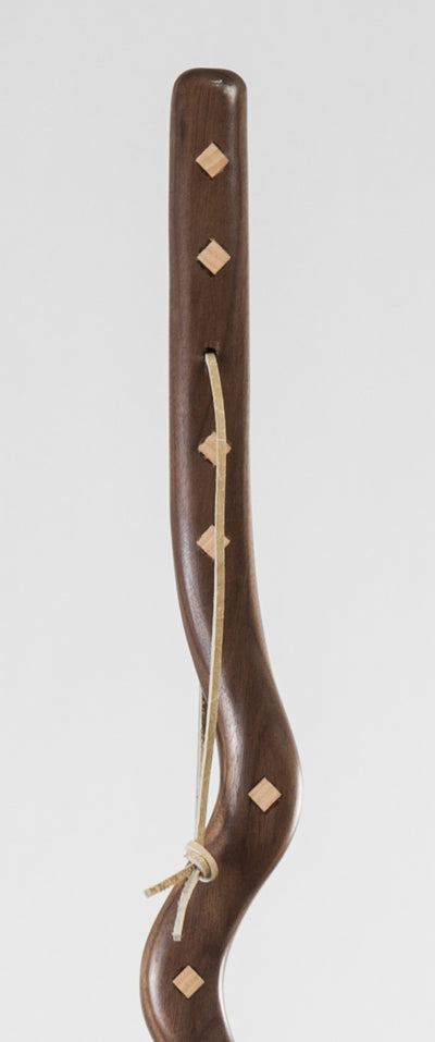 Maple Diamond Inlays Stick for Walking or Hiking