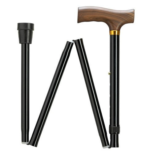 Extra Tall Folding Adjustable Cane with Derby Handle