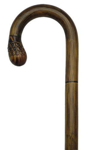 Stepped Manilla Bamboo Bulb Cane