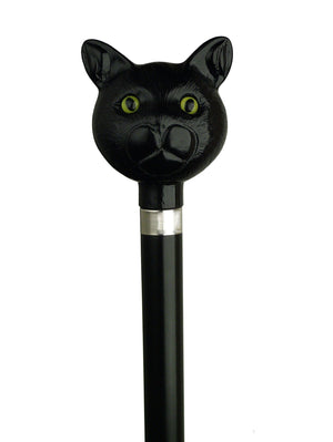 Catatude Black Cat Head Cane