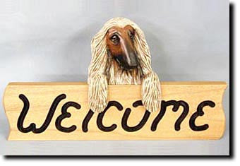 Afghan Hound - Dog Welcome Sign