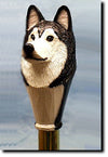 Alaskan Malamute Wooden Walking Cane Stick
