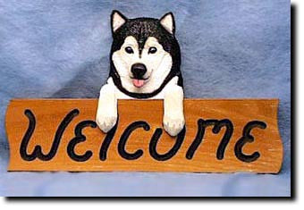 Alaskan Malamute - Dog Welcome Sign