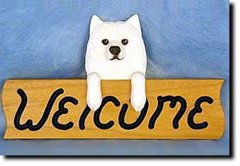 American Eskimo Welcome Sign