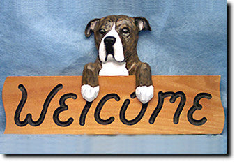 American Staffordshire Terrier Natural - Dog Welcome Sign